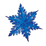 "Metallic Winter Snowflake 24"" Blue"