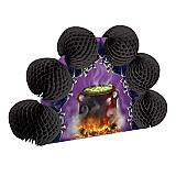 """Cauldron & Bats Pop-Over Centerpiece 10"""""""