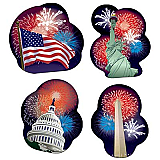 Patriotic Cutouts 14""