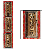 Jointed Wild, Wild West Pull-Down Cutout 6'