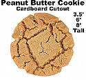 Peanut Butter Cookie Cardboard Cutout Standup Prop