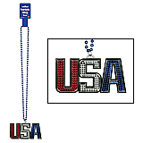 Beads With USA Medallion 36""