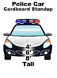 Police Car Cardboard Cutout Standup Prop