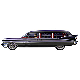 Jointed Haunted Hearse 6'