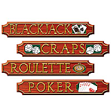 "Casino Sign Cutouts 4"" x 24"""