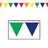 """Outdoor Pennant Banner 17"""" x 30'"""