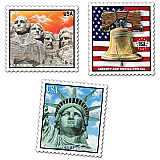 "Patriotic Stamp Cutouts 18"""