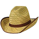 Genuine Adult Cowboy Hat with Brown Trim & Band