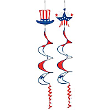 Patriotic Wind-Spinners 3' 6""