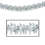 "Snowflake Garland/Column 12"" x 9'"