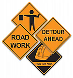 Construction Sign Cutouts 16""