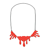 Dripping Blood Necklace 14""