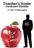 Teachers Apple Cardboard Cutout Standup Prop