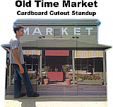 Old Time Market Cardboard Cutout Standup Prop