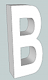 """Letter """"B"""" 3D Cardboard Letters-Numbers - 6 foot tall"""