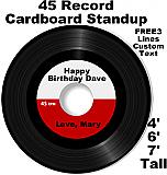 Record Cardboard Cutout Standup Prop