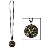 Beads With Pirate Coin Medallion 36""