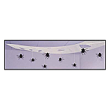 "Spooky Spider Ceiling Drape 15"" x 10'"