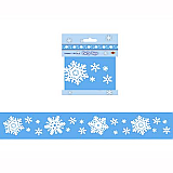 "Snowflake Party Tape 3"" x 20'"