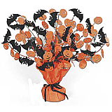 Bat & Pumpkin Gleam 'N Burst Centerpiece 15""