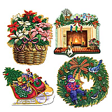 Christmas Holiday Cutouts 16""
