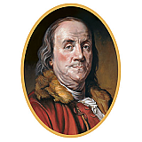 Ben Franklin Cutout 25""