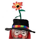 Plush Clown Hat With Flower