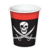 Pirate Beverage Cups 8 Ozs