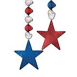"Foil Star Danglers 30"""