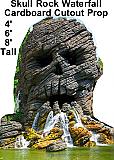Skull Waterfall Cardboard Cutout Standup Prop