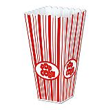 "Plastic Popcorn Boxes 2"" x 3¾"" x 7¾"""