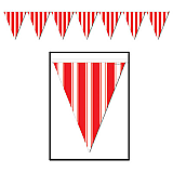 "Striped Pennant Banner 10"" x 12'"
