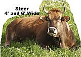 Steer / Cow Cardboard Cutout Standup Prop