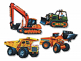 Construction Vehicle Cutouts 16""