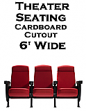 Theater Seats Cardboard Cutout Standup Prop