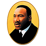 Martin Luther King Cutout 25""