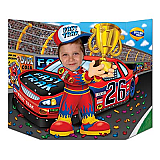 "Race Car Driver Photo Prop 3' 1"" x 25"""