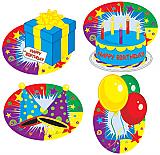 """Happy Birthday Cutouts 12"""""""