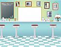 Diner Cardboard Cutout Standup Prop