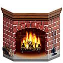 "Brick Fireplace Standup 3' 1"" x 25"""