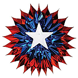 Patriotic Fan-Burst 15""