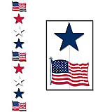 Patriotic Star Stringer 6' 6""