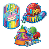 "Pkgd Happy Birthday Cutouts 18"""