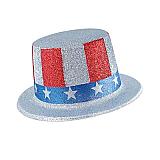 Glittered Patriotic Top Hat