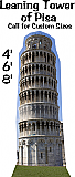Leaning Tower of Pisa Cardboard Cutout Standup Prop