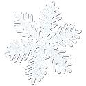 """Sparkle Snowflake 15"""""""