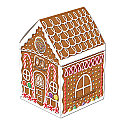 Gingerbread House Centerpiece 8""
