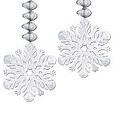 """Foil Snowflake Danglers 30"""""""