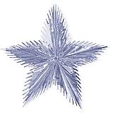 "Leaf Starburst 16"" Silver"