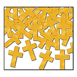 Crosses Fanci-Fetti Confetti